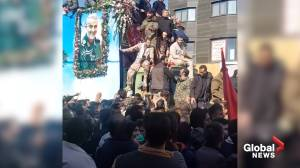 Stampede at funeral procession of Iran's Soleimani kills 40 people, injures over 200 (01:09)