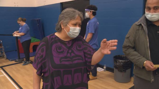 Click to play video: Special challenges for Indigenous people during Prince Rupert mass vaccination