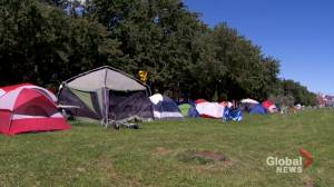Montreal's East End tent city staying put (02:29)