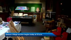 From kitchen equipment to Calgary Stampede posters: Stetson Village Inn holds public auction (01:57)