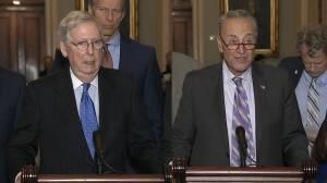 U.S. Senate leaders weigh in on first public impeachment hearing