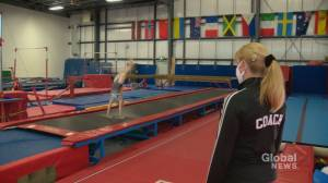 'It seems insane to me': Alberta gymnastics coach fears implications of government-imposed training limits (02:04)