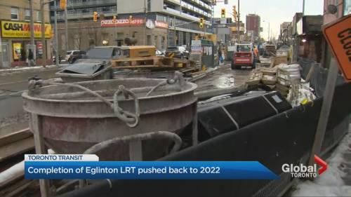Metrolinx delays completion date of Eglinton-Crosstown LRT raising questions about future Toronto   Watch News Videos Online