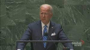 UNGA 2021: Biden says U.S. is 'not seeking a new cold war' (01:01)