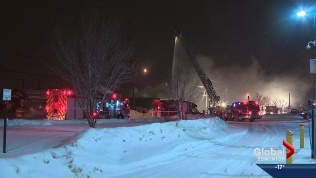 Edmonton Building Collapses In Fire Edmonton Globalnews Ca