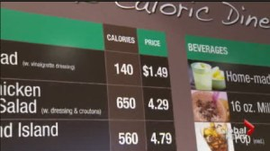 Should restaurants list calories and sodium levels in their food?