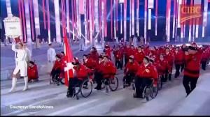 Canadian Paralympians enter Olympic Stadium in Sochi