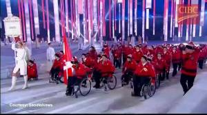 Canadian Paralympians enter Olympic Stadium in Sochi