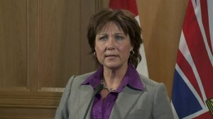 Premier Christy Clark's shocked reaction to news of Jim Flaherty's death