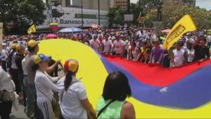 Raw: Venezuela protesters march again