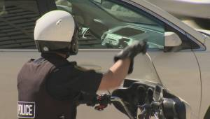 Winnipeg motorcycle cop nabs texting drivers
