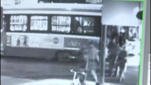 Security camera footage of police shooting on TTC streetcar