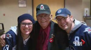 Canada veteran honoured at Winnipeg Jets game