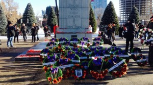Remembrance ceremonies in Calgary
