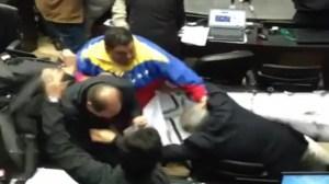 Brawl in Venezuela's parliament