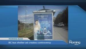 BC bus shelter ad creates controversy