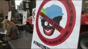 Arrival of Sinterklaas, protest against controversial helper Black Pete