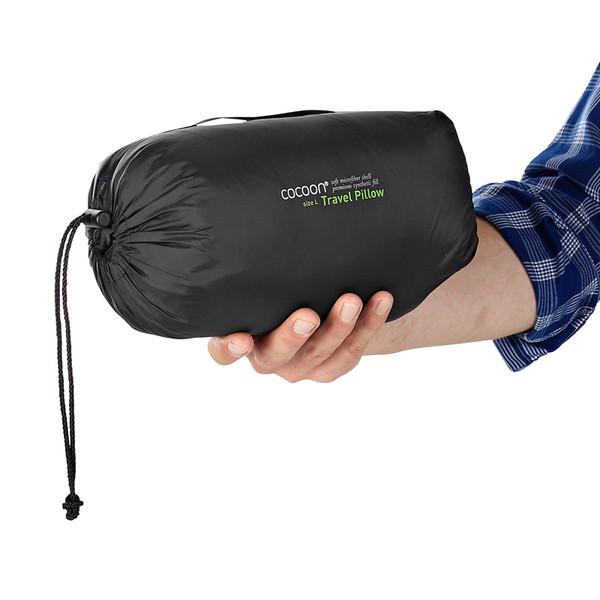 cocoon travel pillow synthetische fullung nylon mikrofaserhulle kissen