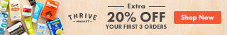 thrive market extra 20% off first 3 orders
