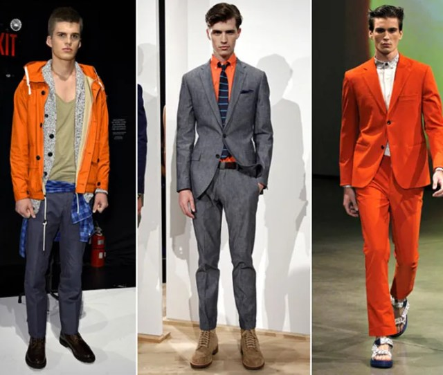 Orange Spring Fashion Trend Men Jpg