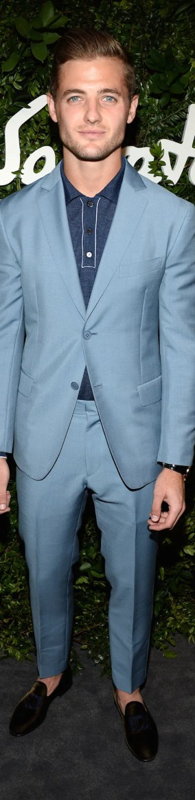 Image result for suit with polo shirt