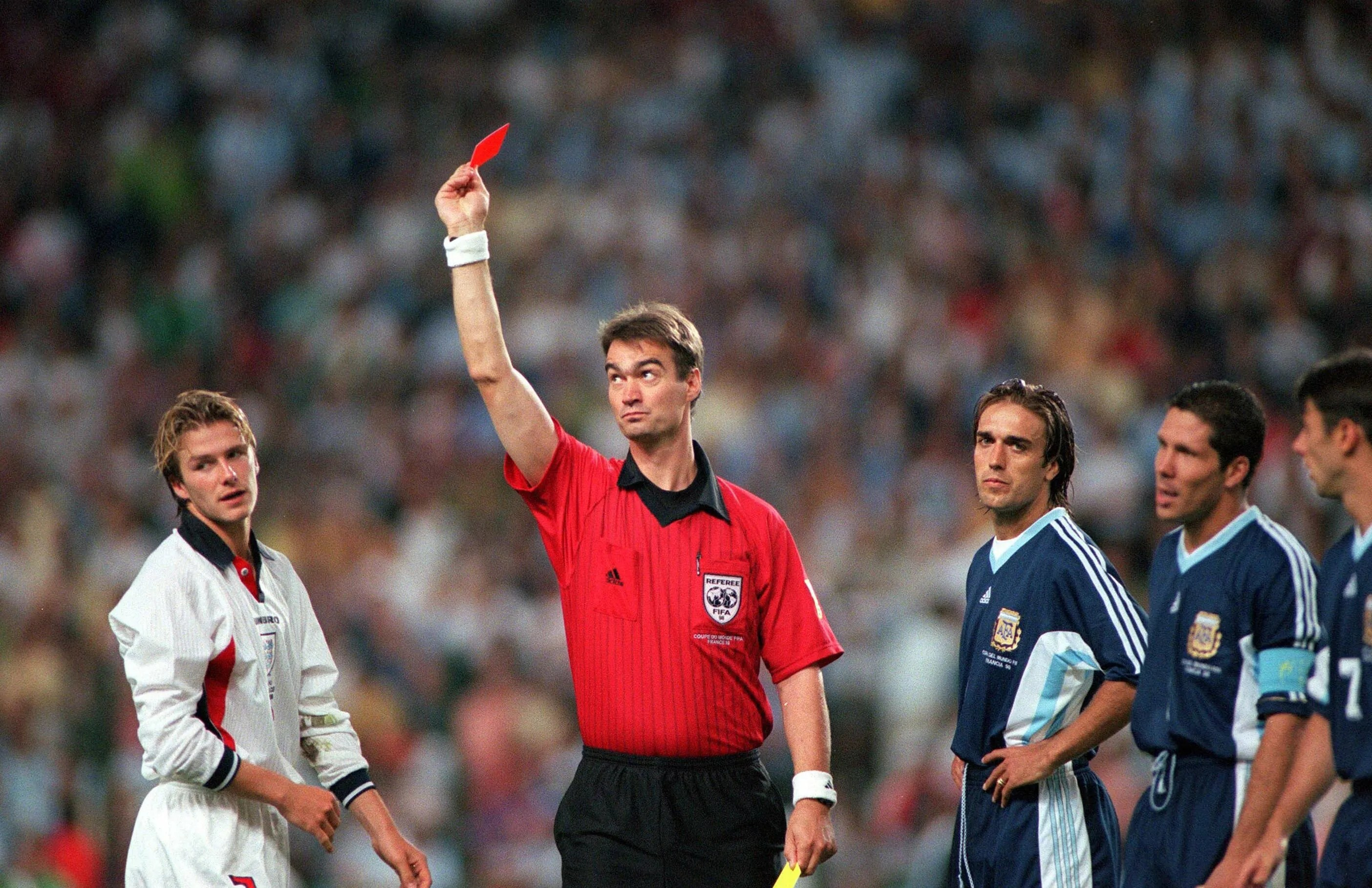 Image result for beckham red card simeone