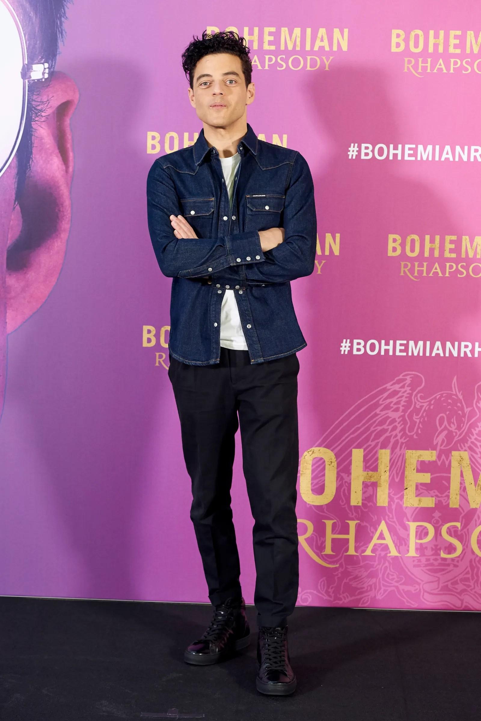 Rami Malek attends the 'Bohemian Rhapsody' movie Photocall at Villamagna Hotel in Madrid on Sep 14 2018
