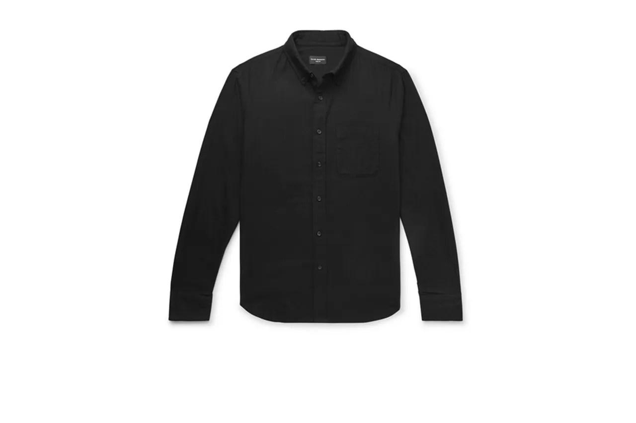 Club Monaco slim fit herringbone cotton shirt