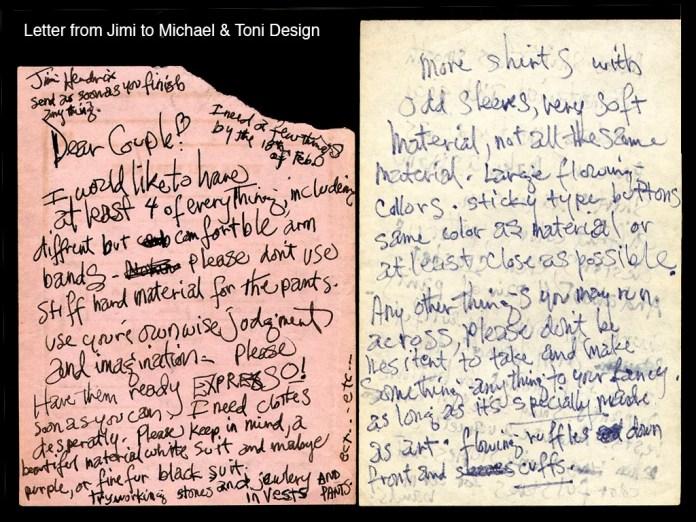 Jimi Hendrix Letter