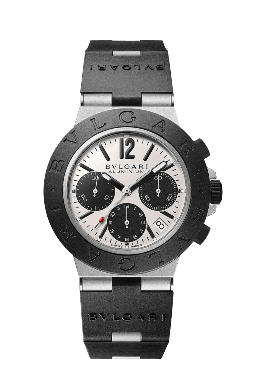 A black and silver watch