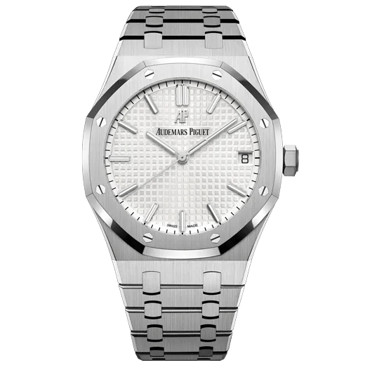 A silver and white watch