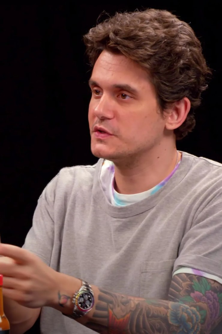 John Mayer on the show Hot Ones
