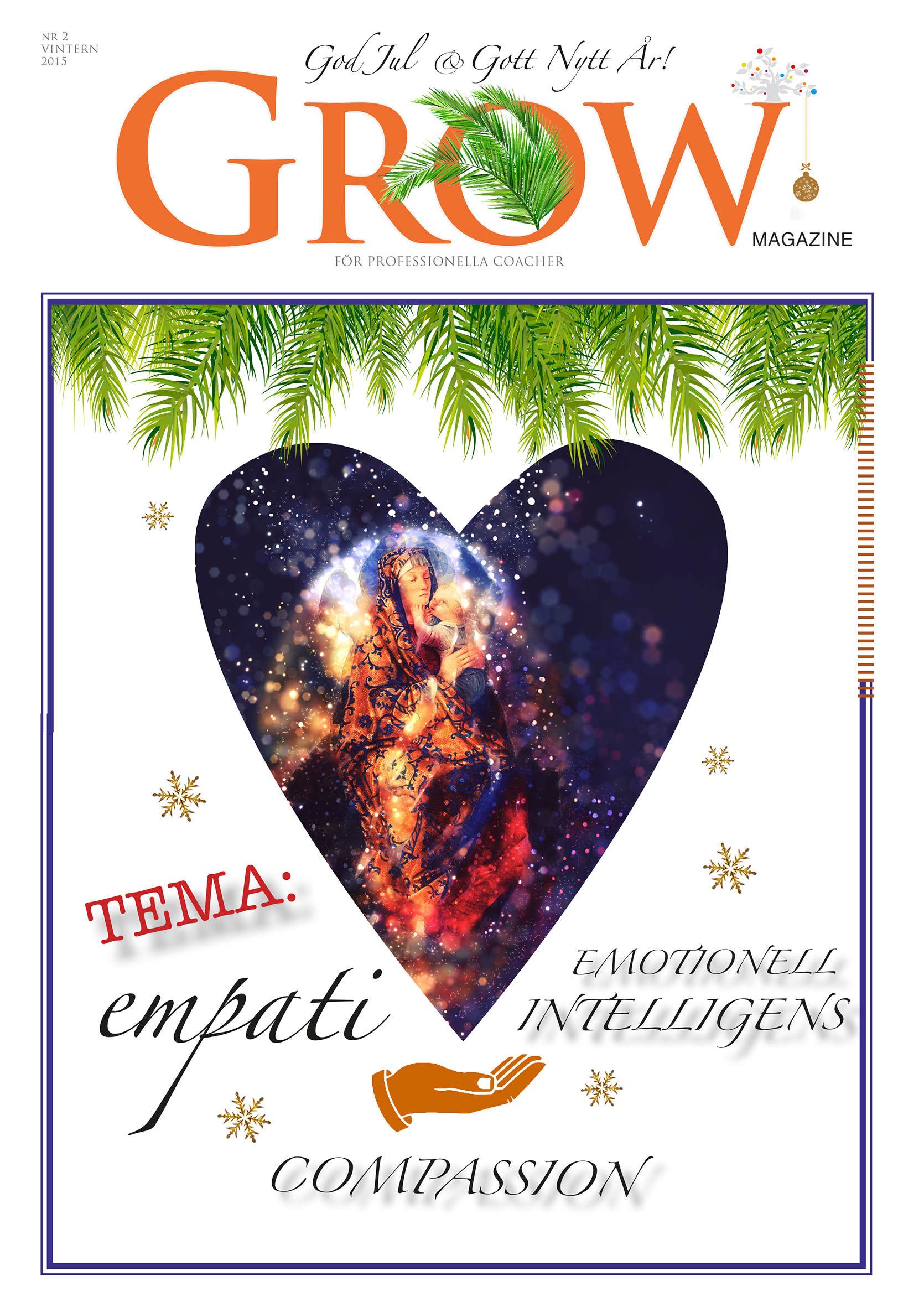 Omslag GROW magazine vol 2 Tema: Empati, Emotionell Intelligens & Compassion
