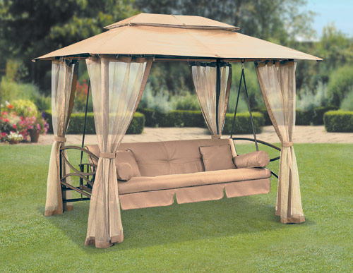Suntime Luxor Swing Gazebo with Free Cover on Suntime Outdoor Living  id=26747