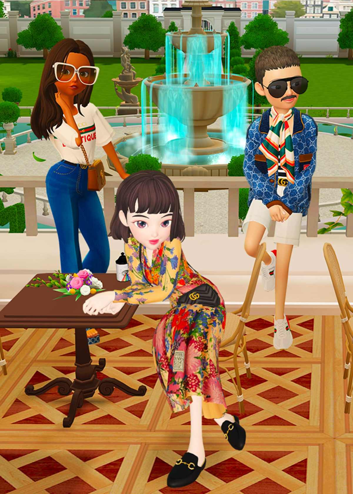 Gucci partners with ZEPETO , the app that lets you create a 3D animated version of yourself.ZEPETO x Gucci