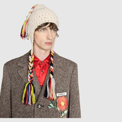 Gucci Wool hat with multicolor tassels Detail 4