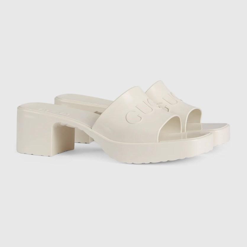 Gucci Rubber Platform Sandals