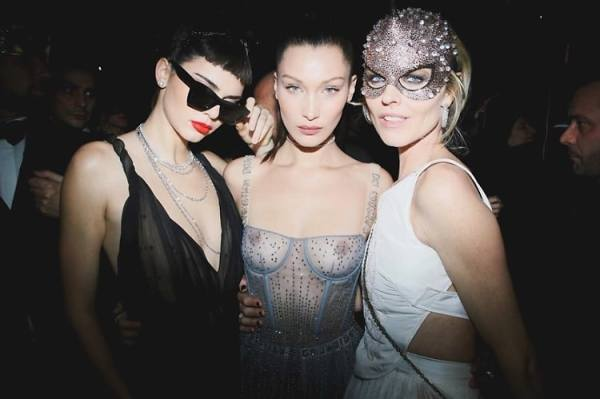 Kendall Jenner & Bella Hadid Party At Dior's Extravagant ...