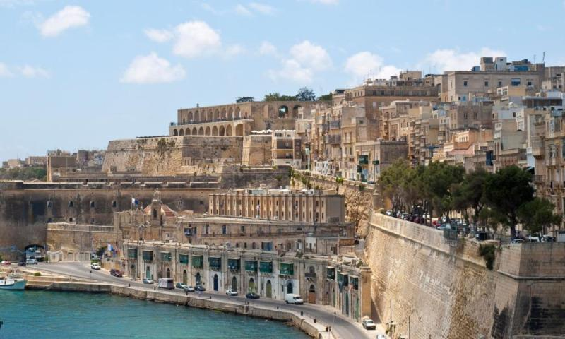 Ancient and modern: Valletta, Malta.