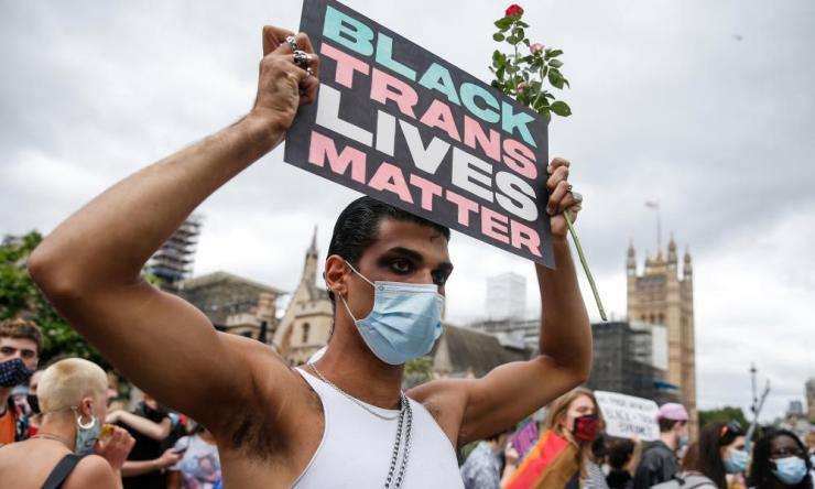 Black Trans Lives Matter Protest Takes Place In Central London. Photo by Hollie Adams/Getty Images.