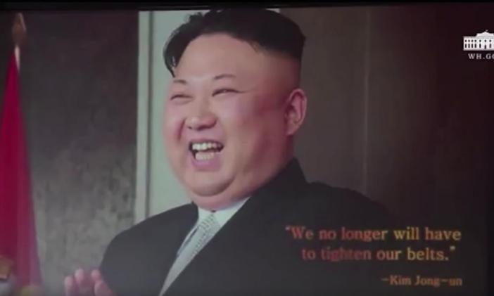 Reporters were shown a video ahead of Donald Trump's press conference in Singapore, which the US president said he had played it to Kim Jong-un and his aides toward the end of their talks. It was made by Destiny Productions and was presented in Korean and English in the style of an action movie trailer