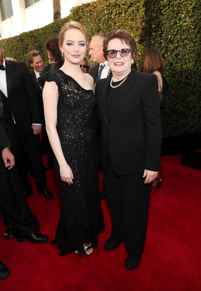 Emma Stone and activist Billie Jean King