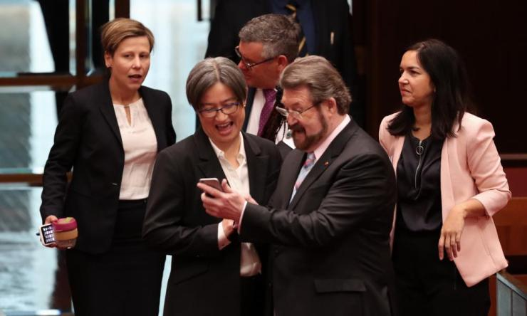 Derryn Hinch and Penny Wong