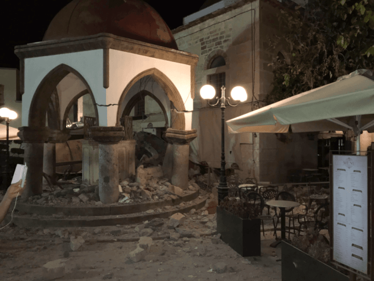 Buildings in Bodrum also suffered damage.