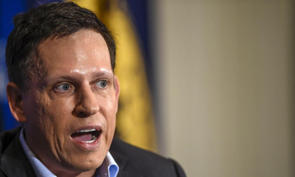 Peter Thiel in Washington. 'Silicon Valley is a one-party state,' he said last month.