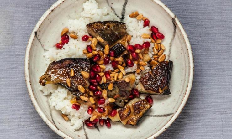 Tim Anderson's sweet miso-grilled aubergine.