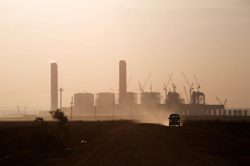Kusile power station - still under construction near the town of Balmoral, South Africa