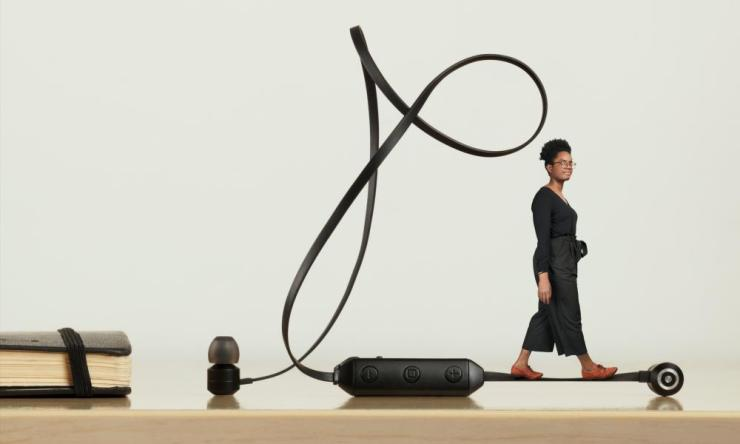Wired for sound: Renni Eddo-Lodge with her headphones.