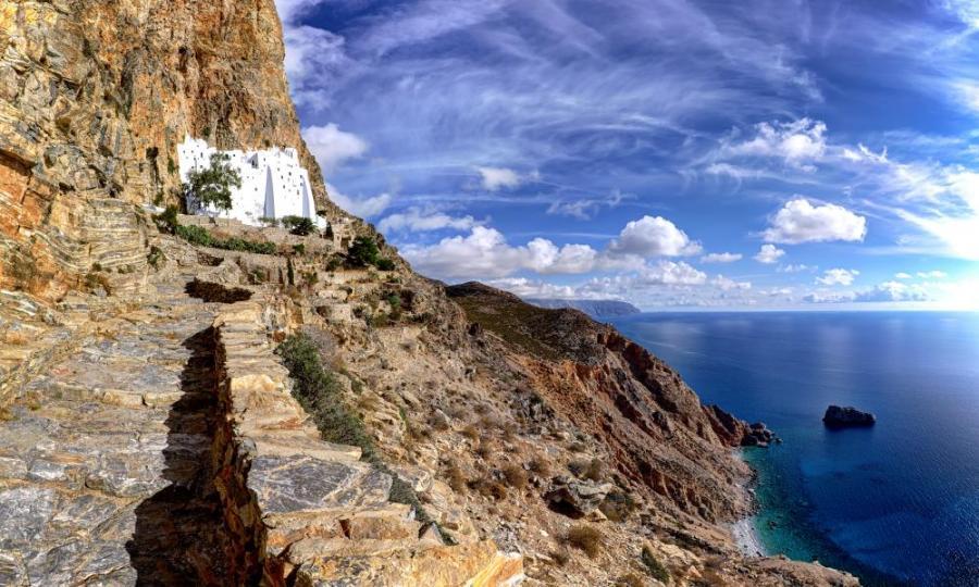 The monastery of Hozoviotissa in Amorgos island.