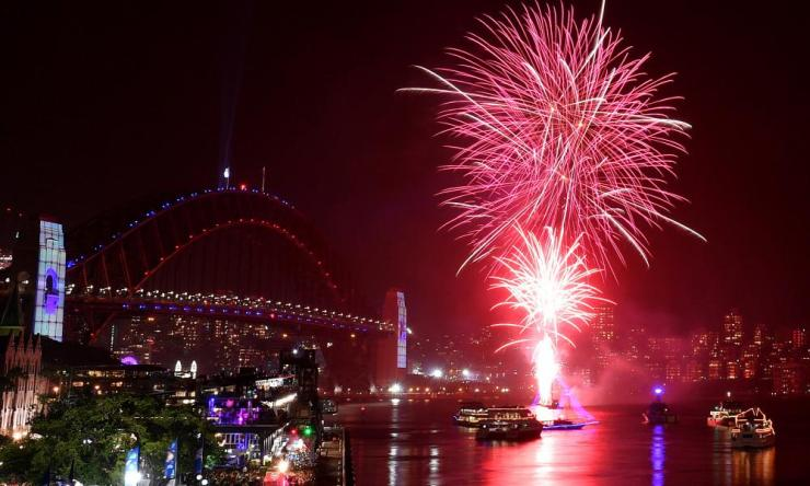 New Year's Eve celebrations in Sydney.